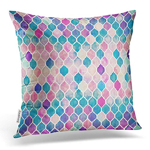 Accrocn Throw Pillow Covers hipster colorful Mermaid fish scales Pillowcases Polyester 18 x 18 Inch Square With Hidden Zipper Home Sofa Cushion Decorative Pillowcase