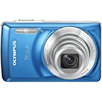 Olympus Stylus 7030 14 MP Digital Camera with 7x Wide Angle Dual Image Stabilized Zoom and 2.7-inch LCD (Blue) (Old Model)