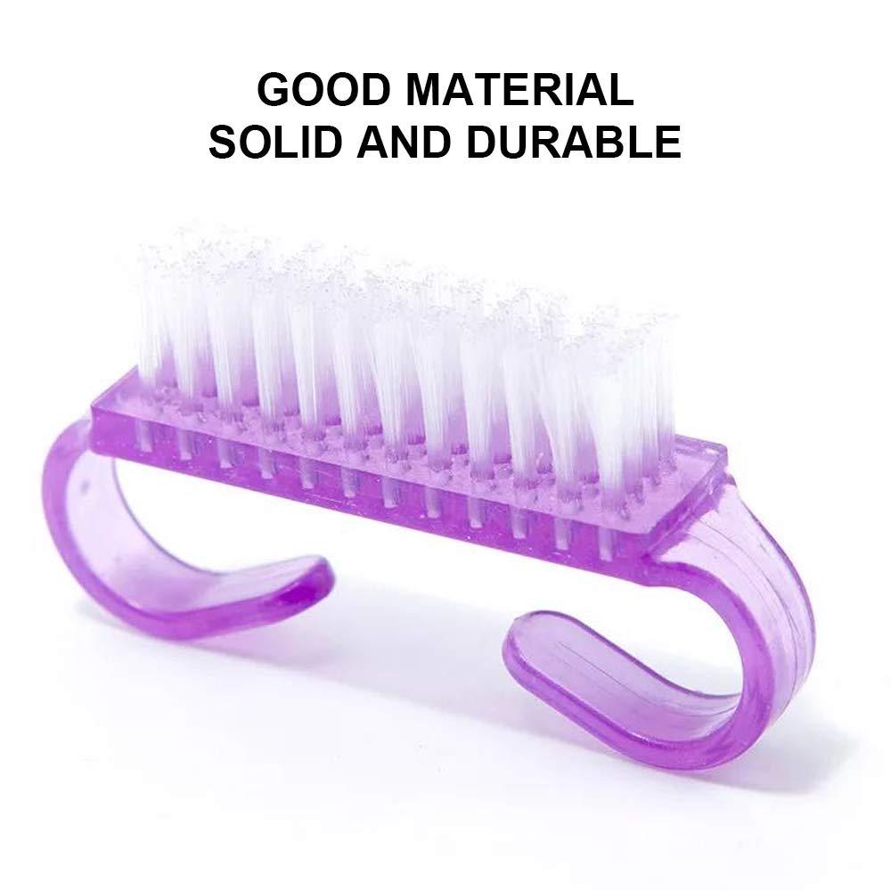 MISS FIRE 6PCS Handle Nail Brush,Handle Grip Nail Brushes,Nail Brushes for Cleaning,Handle Fingernail Scrub Cleaning Brushes for Toes and Nails Cleaner : Beauty