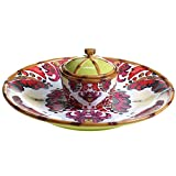 Tracy Porter for Poetic Wanderlust Imperial Bengal 3 pc Chip & Dip, 15'' Diameter x 5.5'' High
