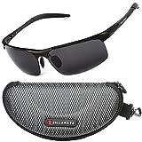 Sunglasses Man Polarised Sunglasses for Men & Women by ZILLERATE, Mens & Womens Fashion Sunglasses, Driving Cycling Fishing Golf Cricket Tennis Running Motorbike, Anti Glare UV Protection, Black