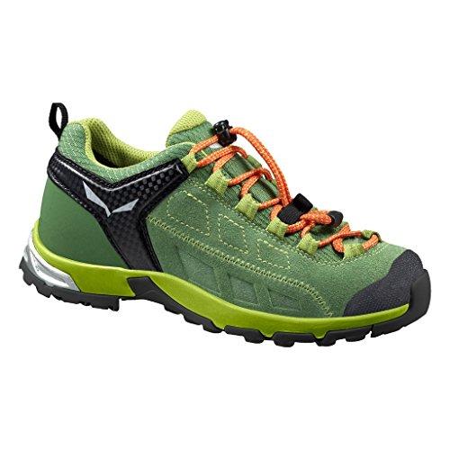 Salewa JR ALP PLAYER WP - zapatillas de trekking y senderismo de piel Niños^Niñas Verde  /  Negro   (Treetop / Tirol 5589)