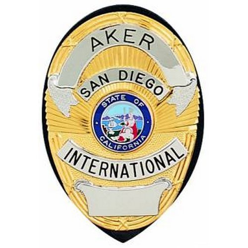 (Aker Leather 591 Clip-On Shield Badge Holder, Black)