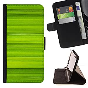 Momo Phone Case / Flip Funda de Cuero Case Cover - Simple Green Pattern 40 - Apple Iphone 4 / 4S