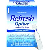 Refresh Optive Lubricant Eye Drops, 30 Single-Use Containers