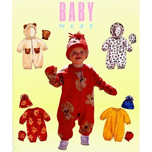 McCall's #9084 Baby Jumpsuit Hood Mittens Hat Sewing Pattern Size S-XL (13-24 Pounds) by McCall's]()