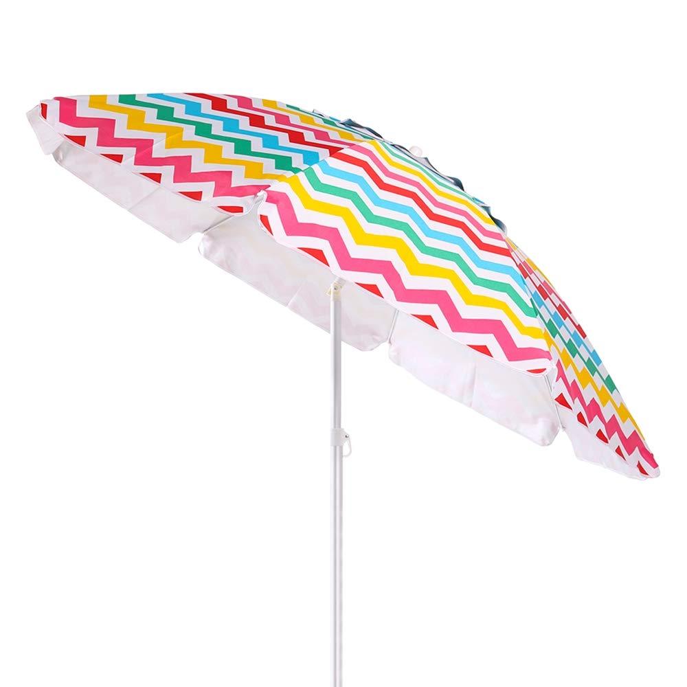 Sombrilla de Playa Parasol de Aluminio 220 cm Garden LOLAhome