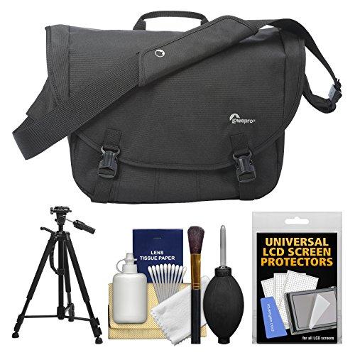 Lowepro Passport Messenger Digital SLR Camera Bag/Case (Black) with Tripod + Accessory Kit