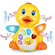 JTOYS Light up Dancing and Singing Duck Toy