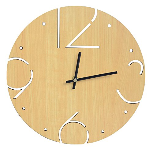 Amazing Roo Wall Clocks Battery Operated 11.8 Inch Decorative for Kitchen, Living Room, Bedroom, Office