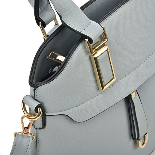 Tote Bag Fashion Young Blue Detachable Women Metal Strap With Detail Sally XnqfBZxBw
