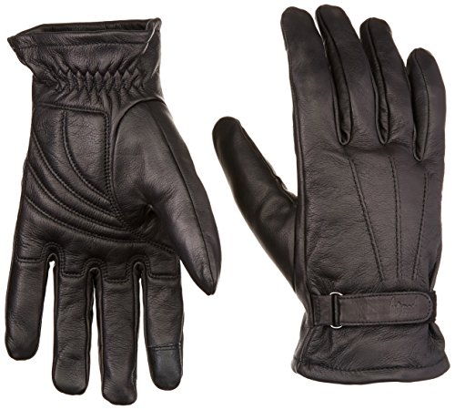 Lined Men's Motorcycle Gloves (Black, 4X-Large) ()