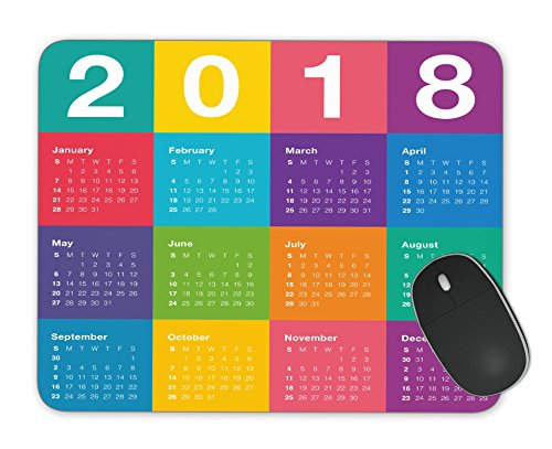 Year 2018 calendar simple and clean design Mosue Pad Gaming mouse pad Non-slip mouse pad
