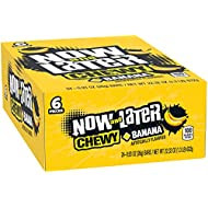 Now & Later Soft Taffy Chewy Banana Fruit Chews, Pack of 24