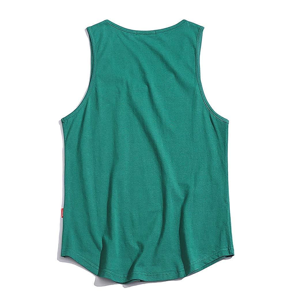Uomo Giubbotto Semplice 100/% Cotone Canottiera Estate Palestra Maniche T Shirt 1
