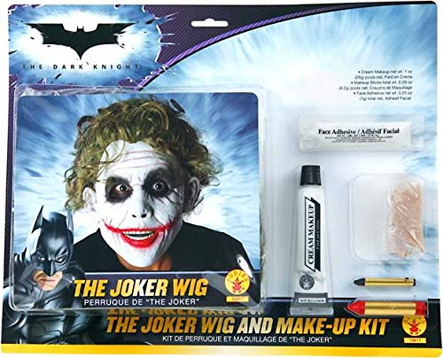 Batman Deluxe Joker Wig And Make Up Kit, Black, One -
