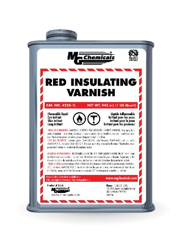MG Chemicals 4228 Red GLPT Insulating Varnish, 55 ml Bottle