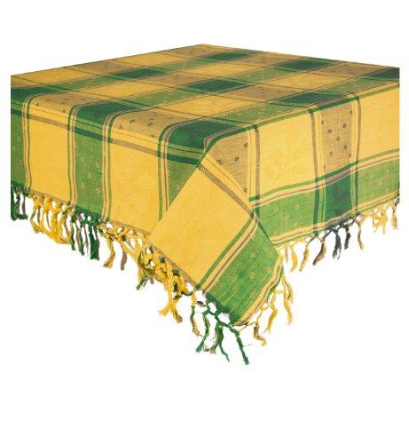 Table Dining Avignon (100% Cotton Green & Yellow 60