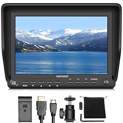 Neewer NW-S7 7 inches 4K HD Field Monitor with HDMI Input and Output Signals 1920X1200 IPS Screen for Canon Nikon Sony Olympus Pentax Panasonic DSLR Camera Camcorder (Power And Battery not included)
