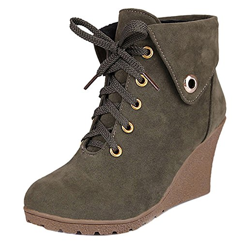 Cuna Army Cordones Coolcept Mujer Clasico Green de Botas Zapatos UIq47HA