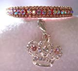 ~Prissy Pink Aurora~3/8″ Crystal Rhinestone Pet Dog Cat Collar EXTRA Small #376, My Pet Supplies