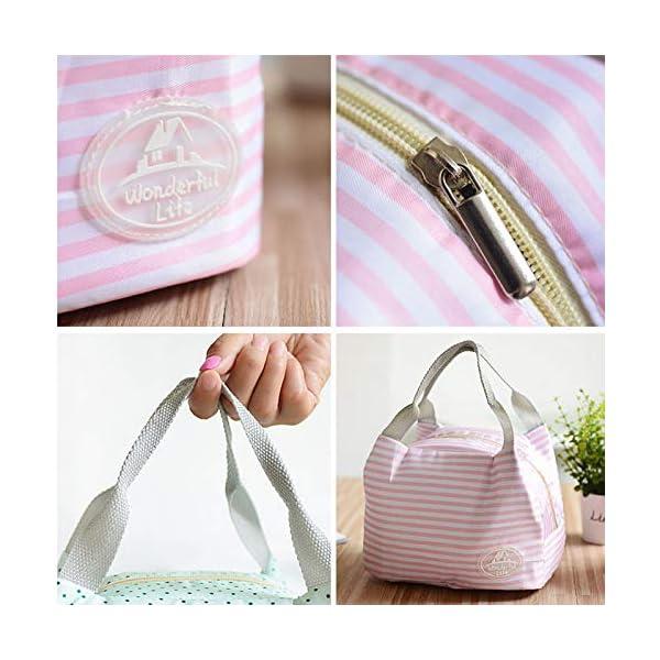 fablcrew Borsa a pranzo portatile borsa pasto Lunch Bag termica termico isolato per Ecole Ufficio Viaggio Picnic 2 spesavip