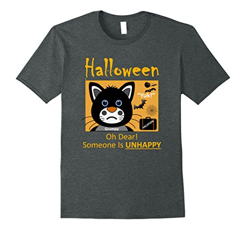 Grumpy Cat Costume Amazon (Mens Halloween Black Cat Cute-Grumpy Halloween Men Women TShirt 5 3XL Dark Heather)