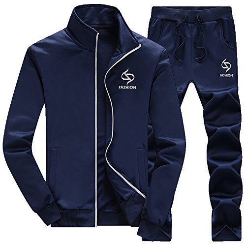 Zaquarius Men's Activewear Casual Jogging Suits Running Tracksuit (Drawstring Wool Sweater)