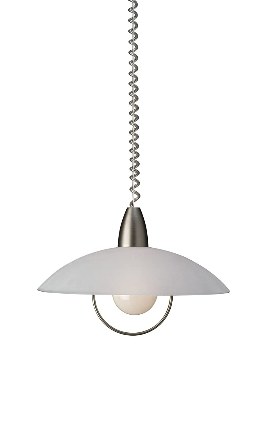 Rise and fall pendant light fittings - Massive Remero Ceiling Light Stainless Steel Requires 1 X 75 Watts E27 Bulb Amazon Co Uk Lighting