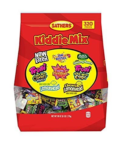 Sathers Kiddie Party Candy Variety Mix, 320 Count - Fall Assorted Chocolates
