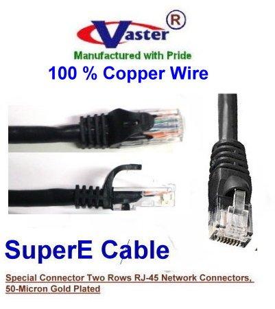 (VasterCable Cat.6 Cable, 70 Ft UTP CAT6 Gigabit Patch Cable, BLACK Color)