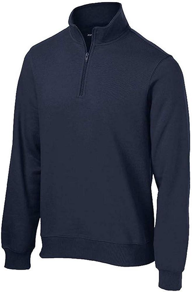 Mens Athletic 1//4-Zip Sweatshirt in Sizes XS-4XL