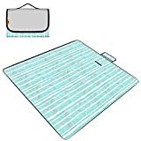 Simple Striped Floor Mat Waterproof Picnic Mat Polyester Cotton Tent Moisture Pad Fashion Beach Mat (Color : D)