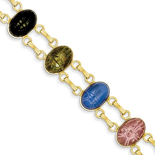 Gold Filled Scarab Bracelet - 3