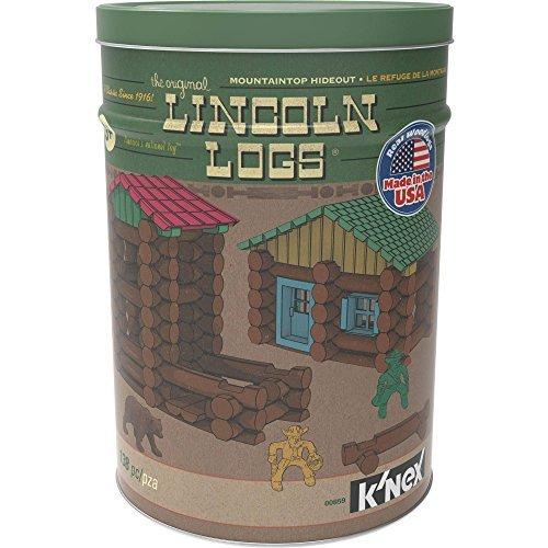 - Lincoln Logs Mountaintop Hideout Classic Real Wood Building Set (138 Pieces)