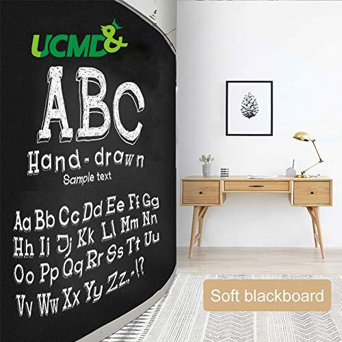 Viet SC Living Room Decoration - Wall Sticker Soft Magnetic Blackboard Chalk Drawing Note Board Room Decoration Self-Adhesive Chalkboard for Living Room Decor