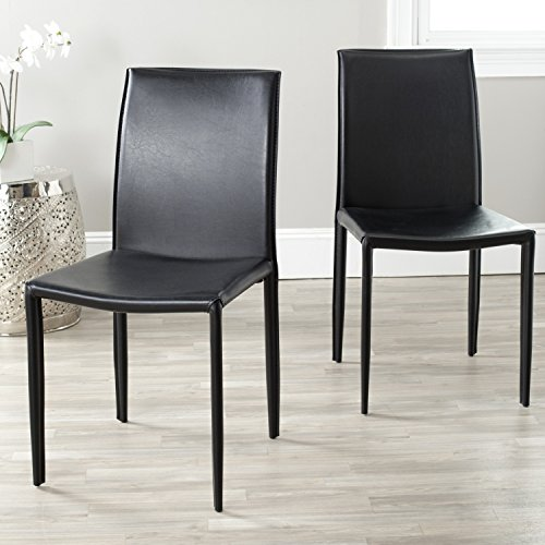 Safavieh Home Collection Karna Modern Black Dining Chair (Set of 2)