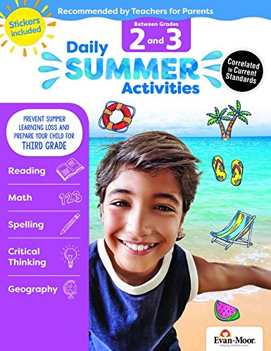 Evan-Moor Daily Summer Activities, Between 2nd Grade & 3rd Grade Activity Book; Summer Bridge Activity Lessons for ()
