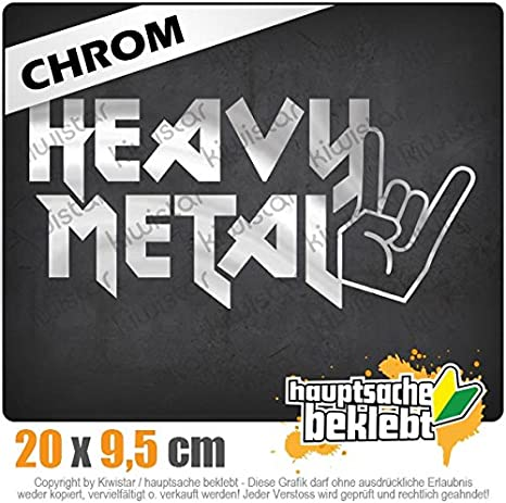 Heavy Metal Hardcore Trash Guitar Drums Autoaufkleber Sticker Bomb Decals Tuning Bekleben KIWISTAR Aufkleber