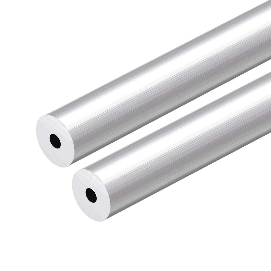 uxcell 6063 Aluminum Round Tube 300mm Length 18mm OD 12mm ID Seamless Aluminum Straight Tubing 2 Pcs
