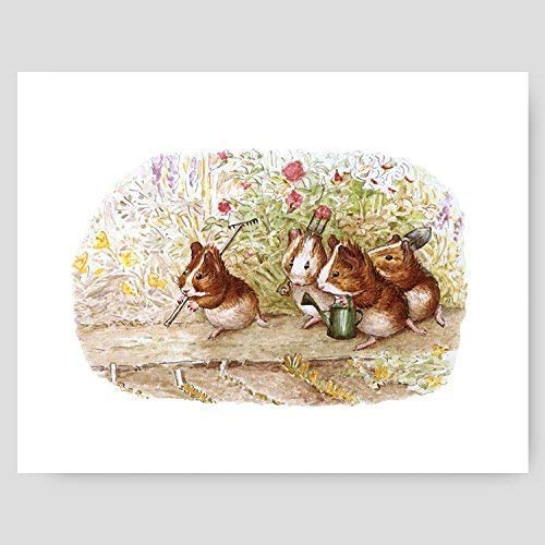 Peter Rabbit Print (Beatrix Potter Nursery, Baby Wall Art)