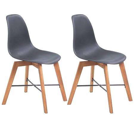 Vidaxl 2x Sedie Da Pranzo Pelle Nera Ergonomiche Moderne Seggiole Cucina Sala Sedie Casa E Cucina