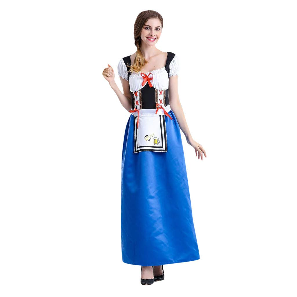 2019 Women Beer Festival Carnival Bavarian Oktoberfest Waitress Cosplay Costume Dress by ALOVEMO Dress