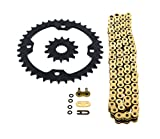 2006-2014 Yamaha YFM700R 700 Raptor Gold O Ring Chain & Sprocket Black 14/38 98L