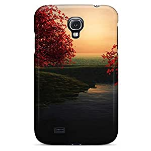 samsung galaxy s4 Phone phone cover case pattern Excellent Fitted autumn tree wallpaper2
