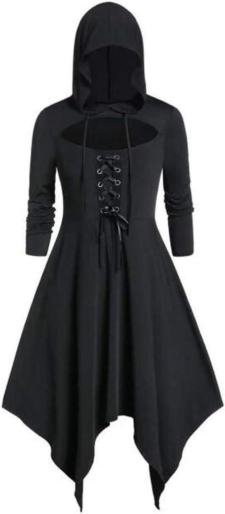 Flyshow damska minisukienka z długimi rękawami w stylu vintage, płaszcz, kostiumy z koronką, slim fit, sweter, sukienka na co dzień, na imprezę, bandaż, długa sukienka, nieregularne obs