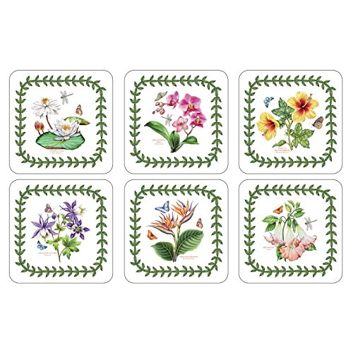 Coasters Square Garden Botanic - Pimpernel Exotic Botanic Garden Coasters - Set of 6