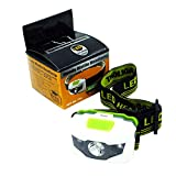 Happy Hours - Ultra Bright Waterproof Led Headlight Flashlight Torch for Climbing, Camping, Hiking, Biking and other Outdoor Activities Without Battery(White)