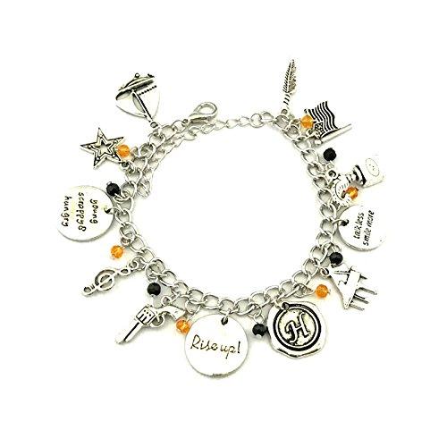 Broadway Musical Hamilton 12 Themed Metal Charm Bracelet -