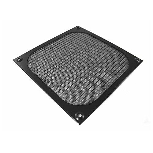 AAB Cooling Filtro/Rejilla de Ventilador de Aluminio, Tapa del Ventilador, para Ventilador, Filtro de Polvo (120 mm, Negro)